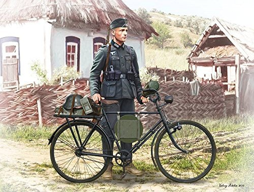 Masterbox 1:35 Scale German Soldier on Bike, 1939-1942 Figure by Masterbox