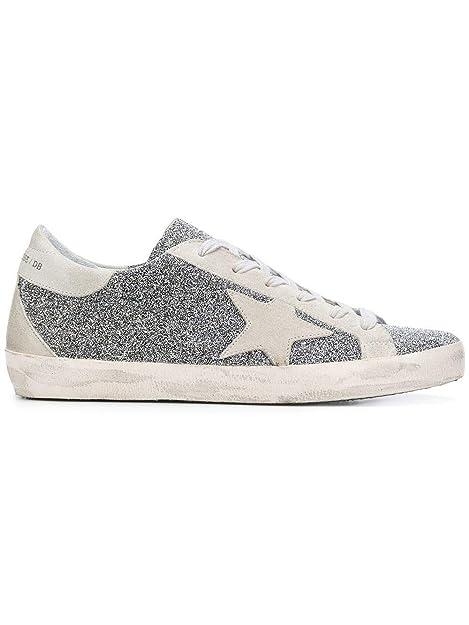 Golden Goose Mujer G33ws590g85 Plata Cuero Zapatillas: Amazon.es: Zapatos y complementos