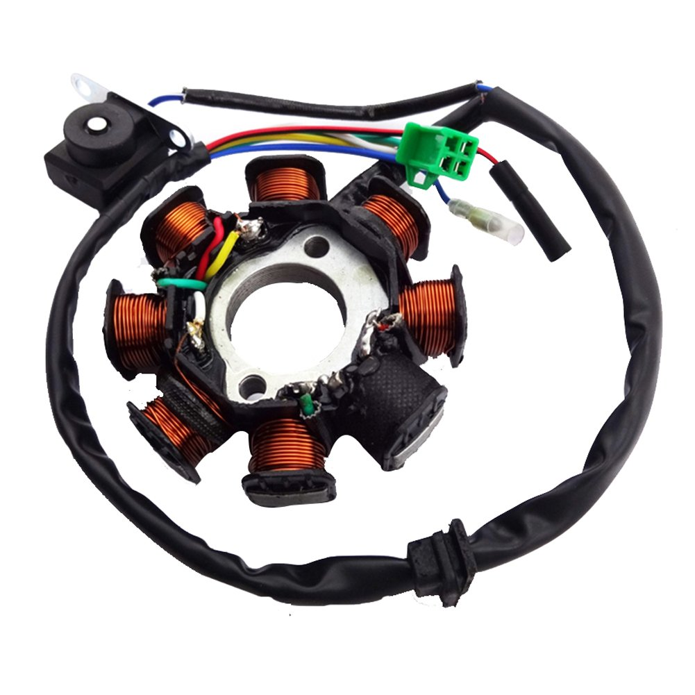 TC-Motor 8 Coils Poles Ignition Stator Rotor Magneto For GY6 125cc 150cc Engine Chinese Moped Scooter ATV Quad 4 Wheeler Go Kart