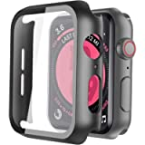 [2Pack] Langboom Black Hard Case Compatible with Apple Watch SE Series 6 Series 5 Series 4 40mm with HD Tempered Glass…