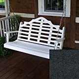 A&L Furniture Co. Marlboro Recycled Plastic Porch Swing (5 Foot, Black)