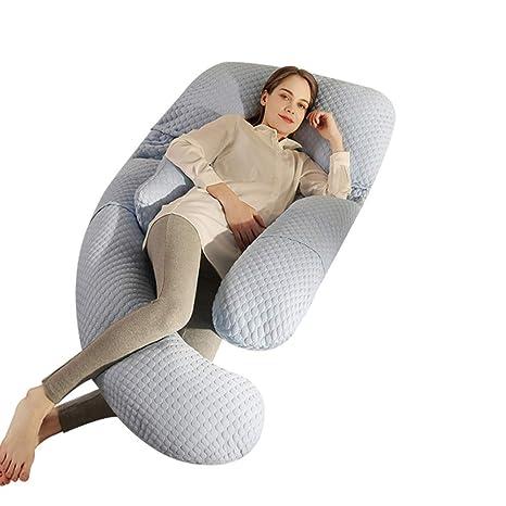 Amazon.com: Almohada de cuerpo en forma de U de fibra de ...