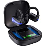 Wireless Earbuds, Bluetooth 5.1 Wireless Headphones Sports Bluetooth Earphones in Ear Noise Cancelling Earbuds with Mic Deep