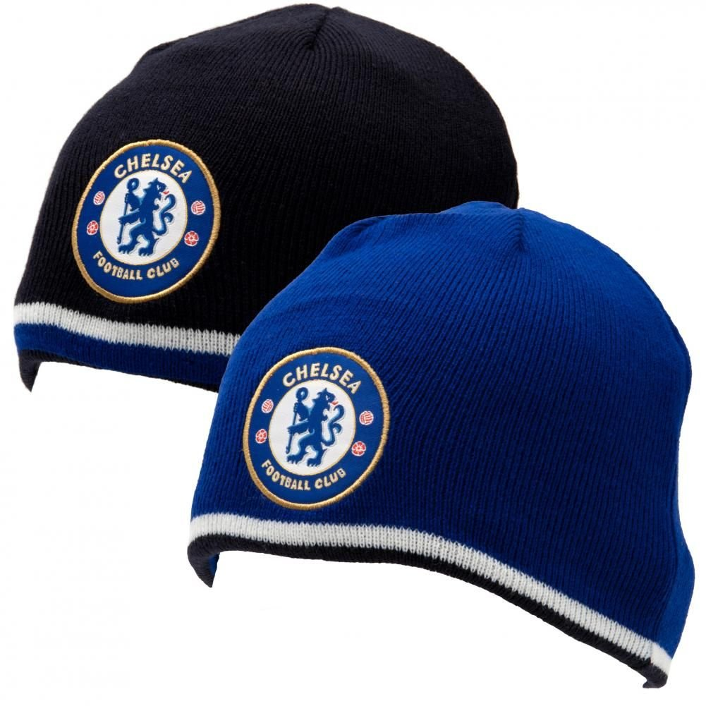 0138c2be0cf Amazon.com   Chelsea FC Reversible Knitted Hat   Ski Helmets   Sports    Outdoors