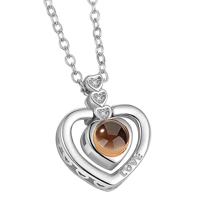 Dmitongz Men Custom Love You Necklace I Love You Necklace ...