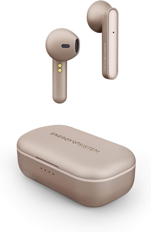 Energy Sistem Style 3 Auriculares inalambricos True Wireless (20h de autonomía, Estuche de Carga inalámbrica, Llamadas stéreo, micrófono Integrado,conectividad automática, Bluetooth 5.0) Rosa