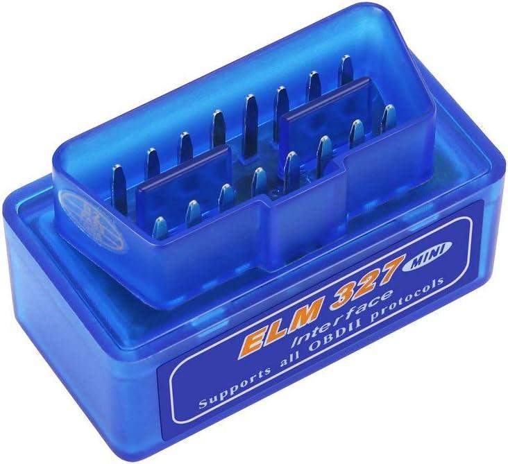 Mini-Outil de Diagnostic dABS Bleu de Haute qualit/é diagnostique dinterface Automatique de Voiture dELM327 V2.1 OBD2 II de Diagnostic fghfhfgjdfj