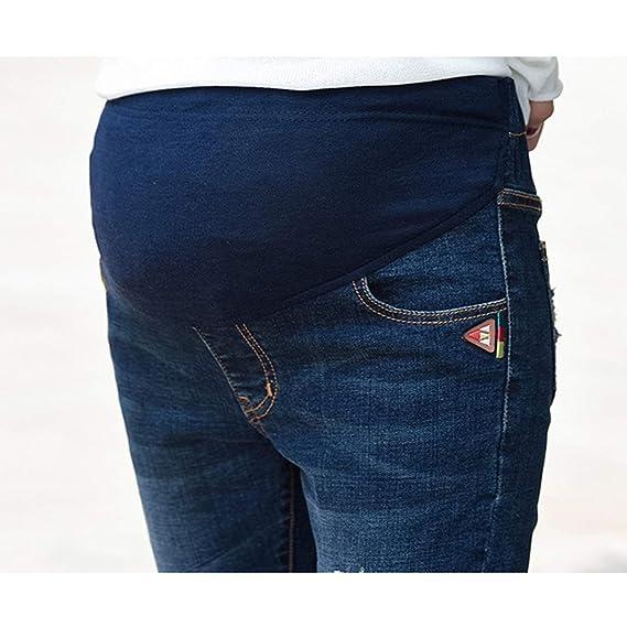 gagacity Mama Hose Schwangerschaftshosen Skinny Umstandshose Jeans Stretch Umstandsleggings Denim Mutterschaft G/ürtel Umstandsjeans Slim Fit Schwangere Hosen Schwanger Leggings