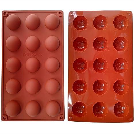 Amazon.com: 1 pcs 15 Cavidad Mini Media Esfera Pastel de ...