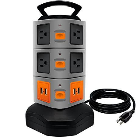 Review Power Strip Tower, ANKO