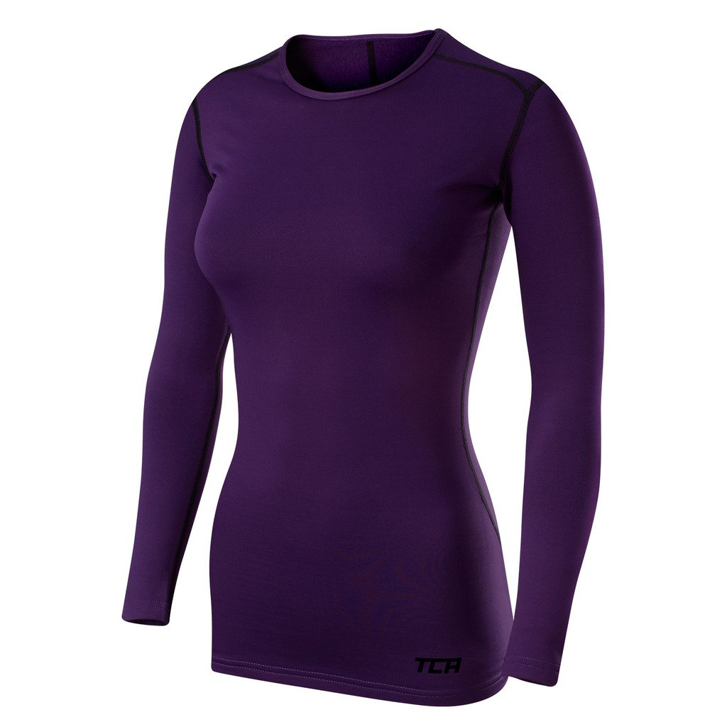 TCA Women's SuperThermal Long Sleeve Athletic Compression Shirt Base Layer