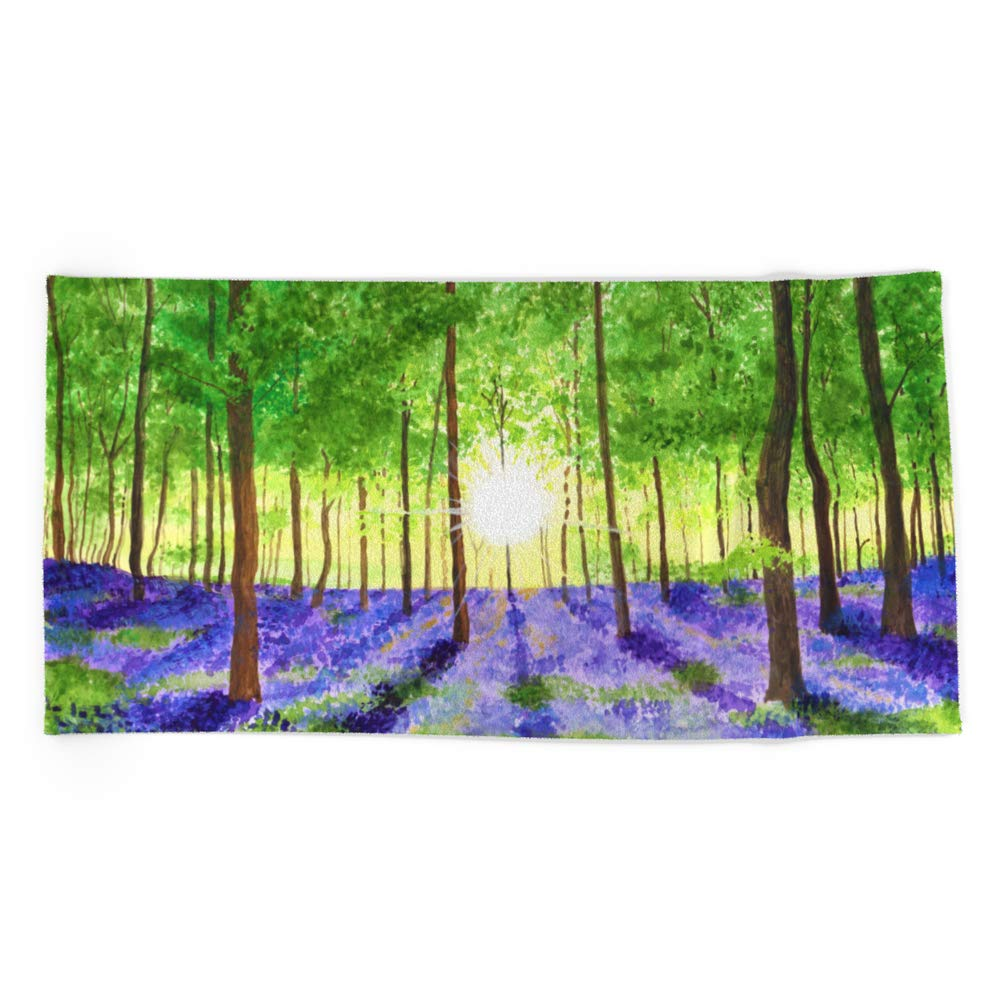 Society6 Beach Towel, Bluebell Woods by catieeliza, Polyester-Microfiber Front, White Cotton Terry Back by Society6 (Image #1)