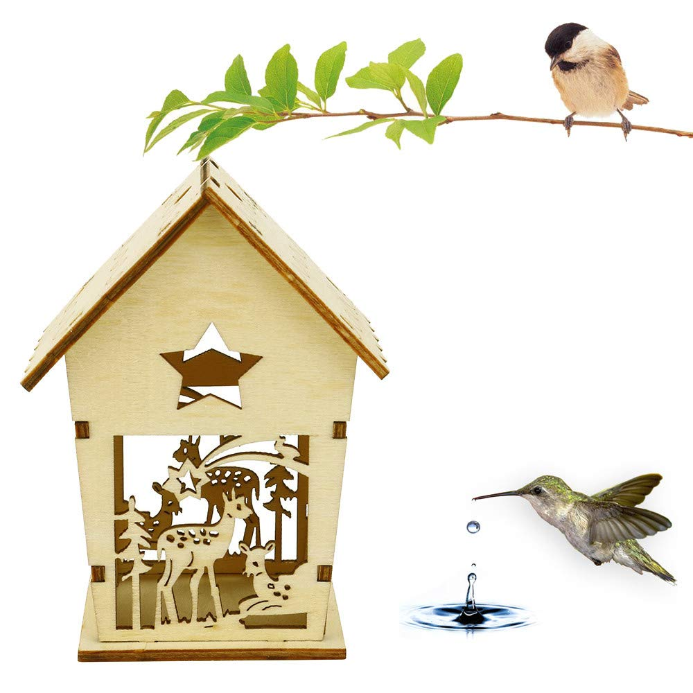 USHOT DIY Nest Dox Nest House Bird House Bird House Bird Box Bird Box Wooden Box