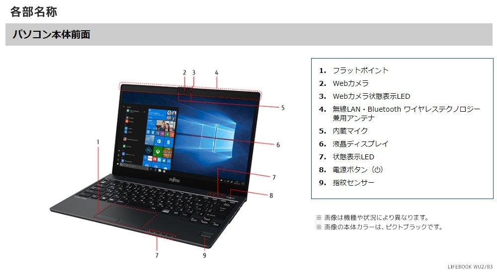 富士通 ノートパソコン マイク どこ