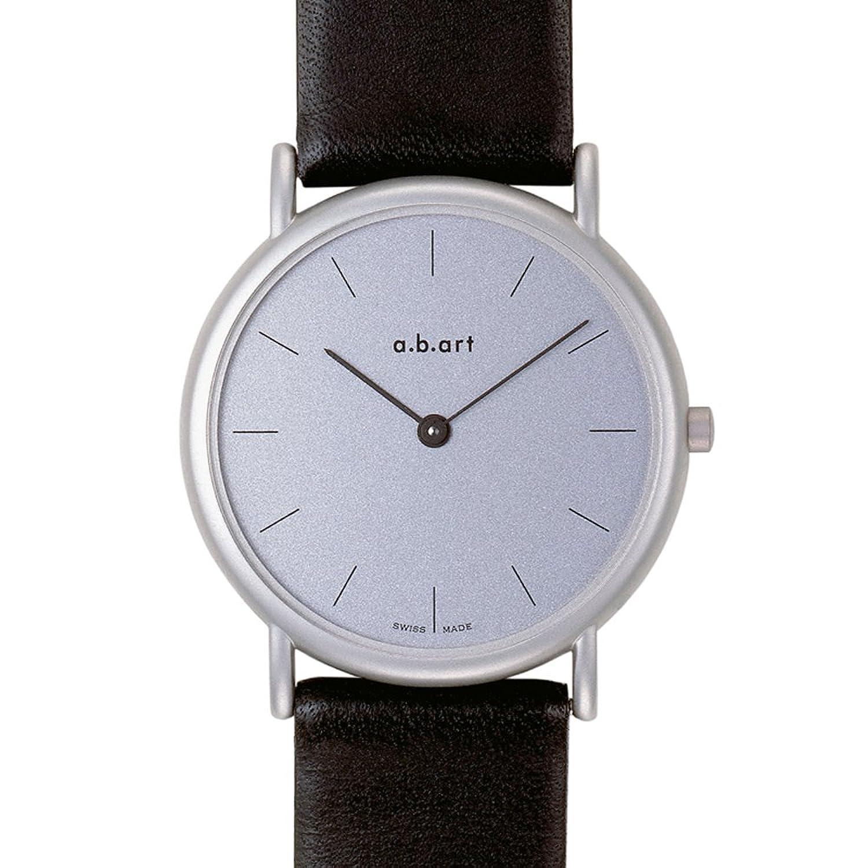 a.b.art Unisex-Armbanduhr K102 Analog Leder Schwarz K102