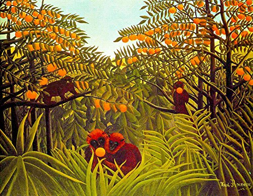 Henri Rousseau Artwork - Odsan Gallery Apes In The Orange Grove - By Henri Rousseau - Canvas Prints 24