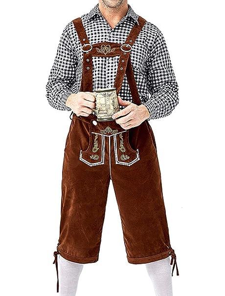 KJHSDNN Traje Halloween Hombre Disfraz Oktoberfest Cerveza 1 ...
