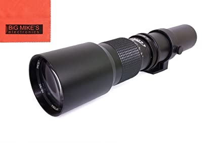 Vivitar 500mm f/8 Telephoto Lens For Nikon Digital SLR Camera - Fixed