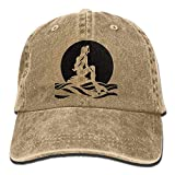 Have You Shop The Little Mermaid Trend Printing Cowboy Hat Fashion Baseball Cap for Men and Women Black Natural