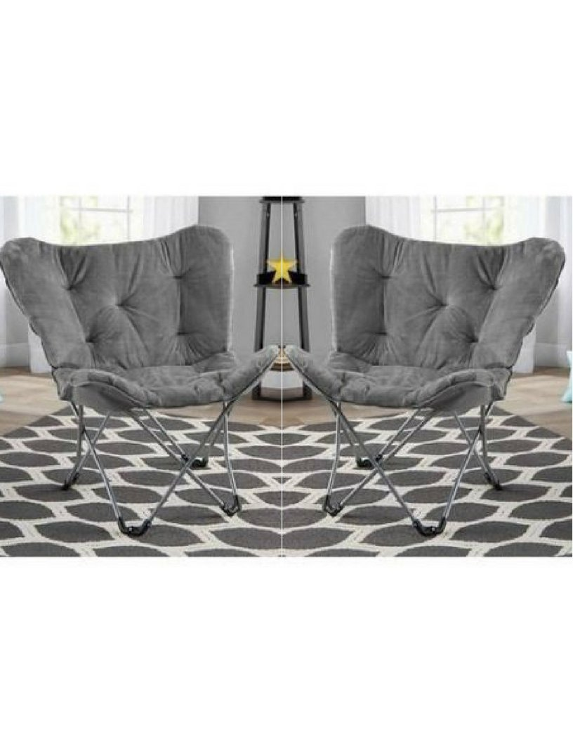 Pack of 2 Grey Mainstay Butterfly Chair