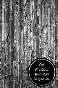 pet medical records organizer pet log book