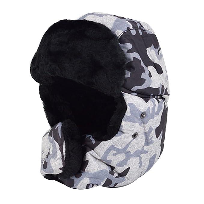 Felice Unisex Winter Hat Cap Trooper Trapper Hat Hunting Eskimo Hat Ushanka Ear  Flap Camo Aviator 5f4ea7667f6