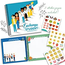 My Exchange Student Experience - 8X8 Hardcover Scrapbook For Documenting Your Experiences Studying Abroad! Special Moments, Delicious Food, People You Met Along The Way, Places Visited And Much More
