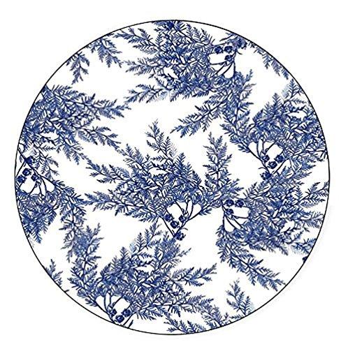 (Boston International Caskata Studio Melamine Dinner Plate, Cedar Blue, Pack of 4 )