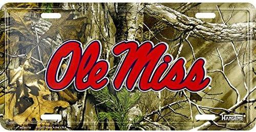 Signs 4 Fun SL50110 MS Univ Ole Miss Realtree camo License Plate