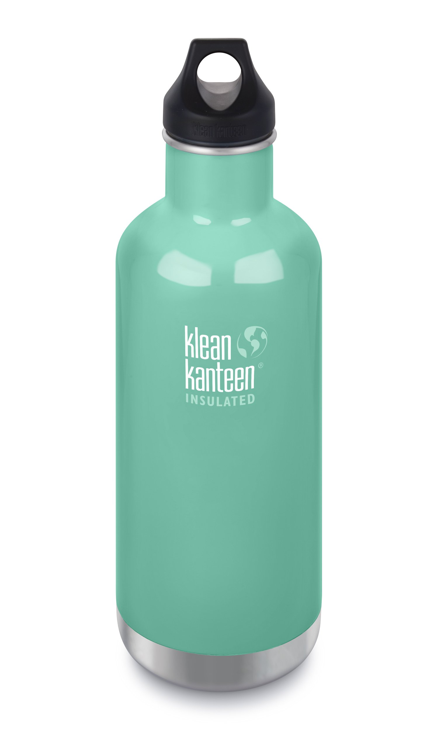 Klean Kanteen Classic Insulated Stainless Steel Water Bottle with Klean Coat and Leak Proof Loop Cap - 32oz - Sea Crest