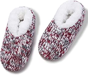 0e12902efe MaaMgic Womens Fuzzy Christmas Animal House Slippers Ladies Cute Bedroom  Indoor Knit Winter Slippers