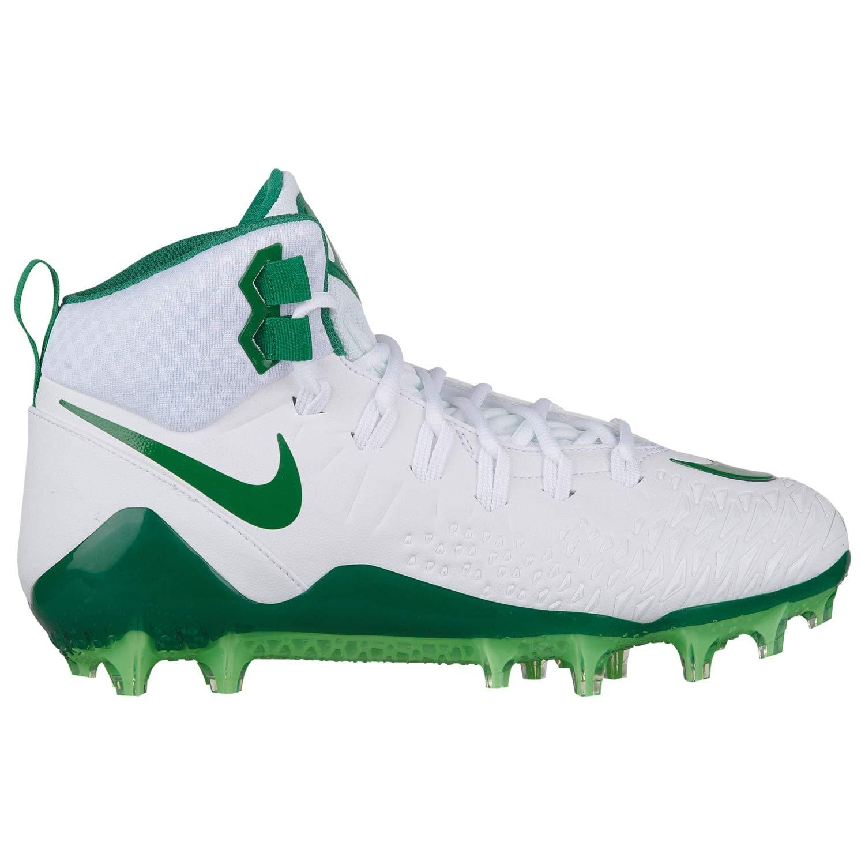Nike Men's Force Savage Pro Football Cleats (9.5 M US, White/Pine Green/Rage Green)