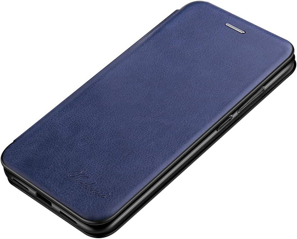 Bleu Suhctup Magn/étique Flip Portefeuille Cuir Coque Compatible pour Samsung Galaxy A20E Housse avec 1 Fentes pour Credit et Porte-Cartes,Transparent TPU Bumper Antichoc Etui avec Fonction de Support