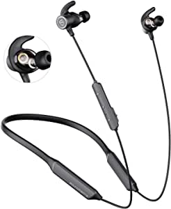 SOUNDPEATS Dual Dynamic Drivers Bluetooth Headphones, Neckband Wireless Earbuds with Crossover, APTX HD Audio Built in Mic 22 Hours Playtime, Bluetooth 5.0 Headset Sports Earphones