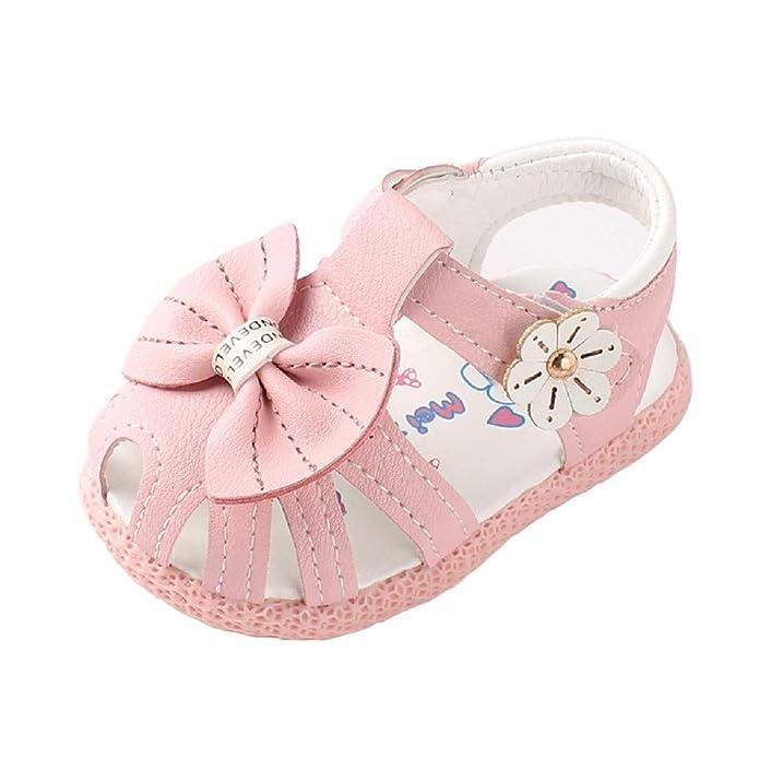 Auxma Baby M/ädchen Weiche Sohle Sandalen rutschfeste Kleid Hochzeit Krippe Schuhe f/ür 6-36 Monate