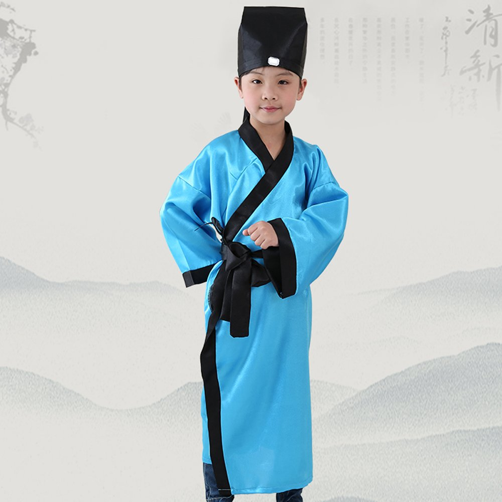 d150fb739 Amazon.com: BOZEVON Ancient Chinese traditional clothing, children's boys  and girls Confucius clothes, Hanfu: Clothing