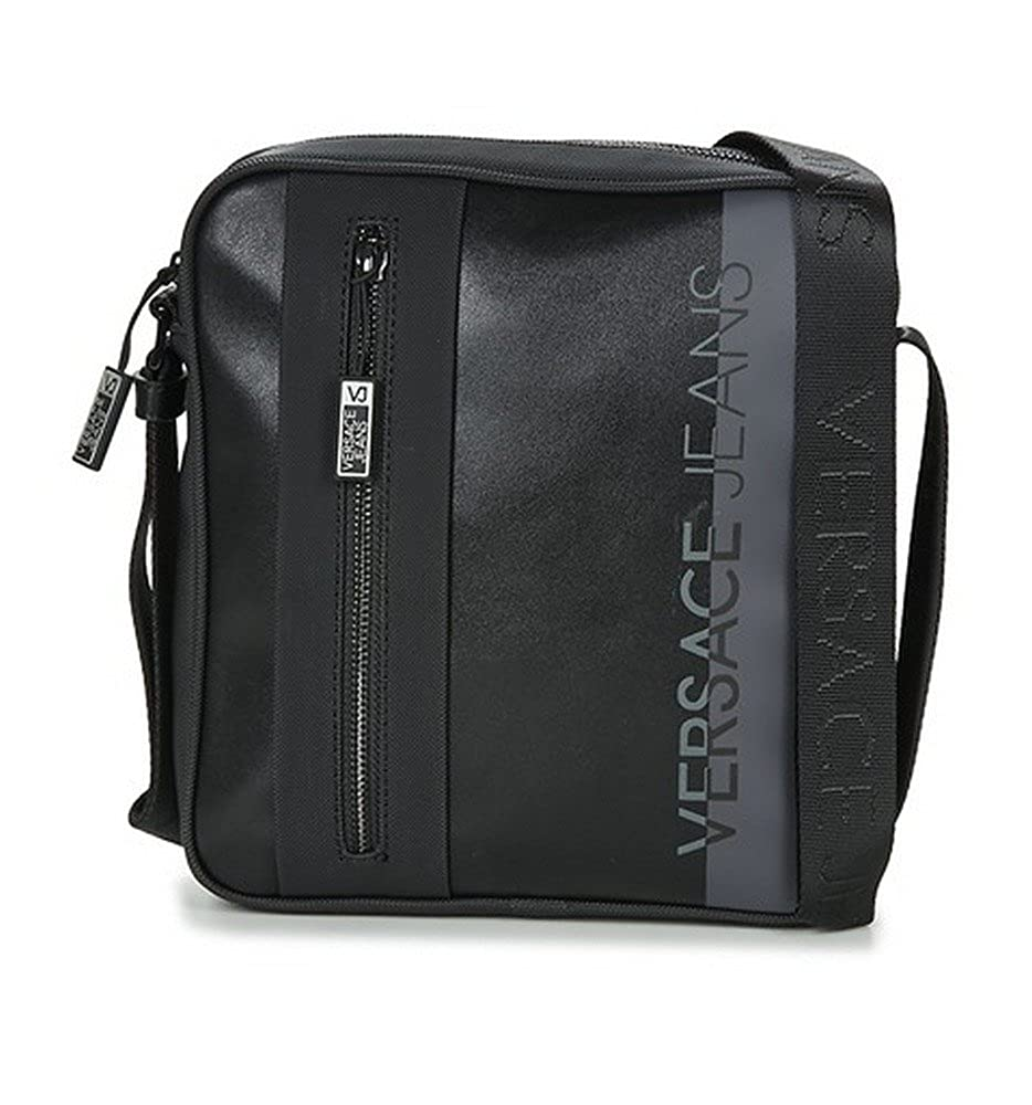 3fe338325f Versace Men s 62125 Shoulder Bag - Black - One size  Amazon.co.uk  Clothing