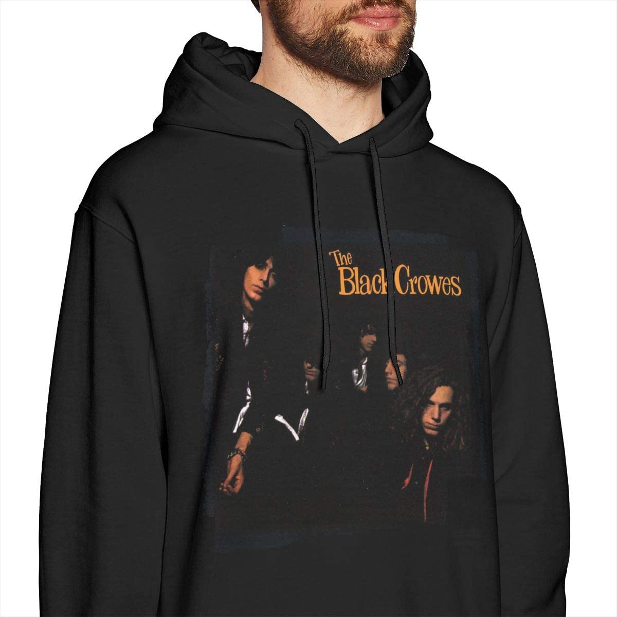 LANDONL Mens Black Crowes Shake Your Money Maker Hoodies Hooded Sweatshirt Black