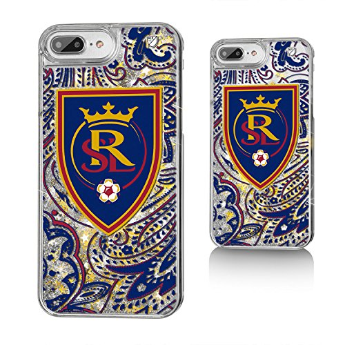Keyscaper MLS Real Salt Lake Paisley Glitter Case for iPhone 8 Plus/7 Plus/6 Plus, Clear by Keyscaper