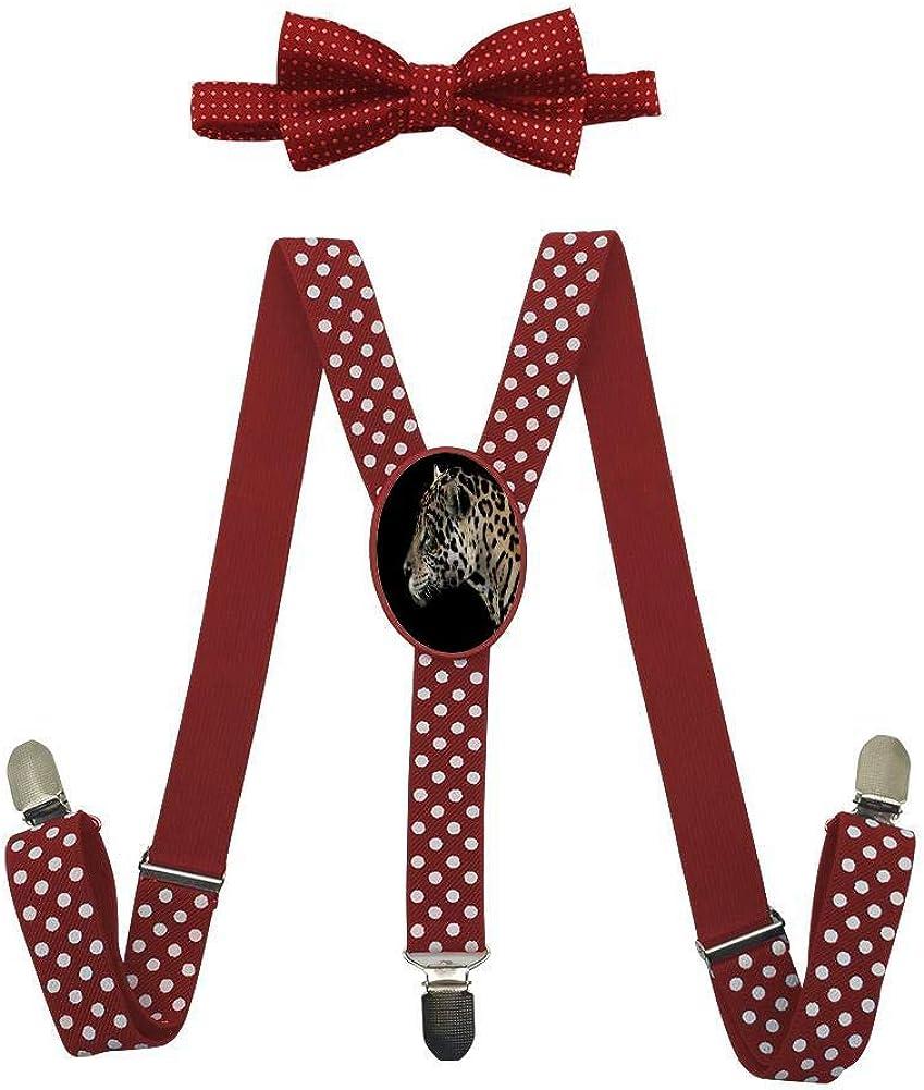 Jungle-Spotted Leopard Childrens Fashion Adjustable Y-Type Suspension Belt Suit