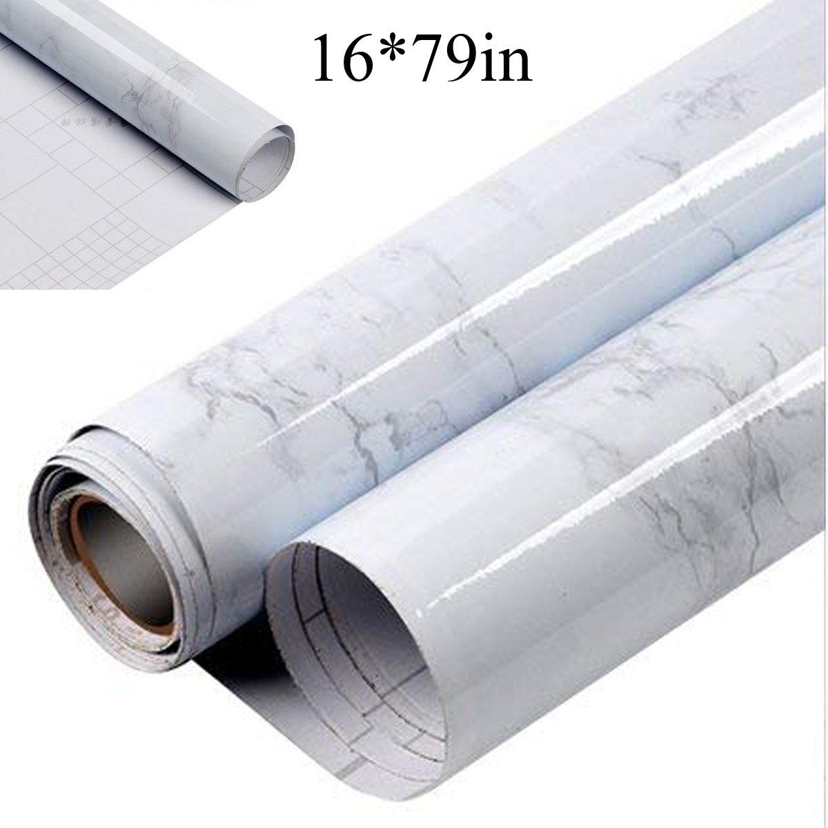 Espier Marble Contact Paper, Self-Adhesive Film Table Cover Wall Decor Sticker Waterproof Decorative Marble for Kitchen Countertop Cabinet Furniture(16¡¯¡¯x79¡¯¡¯)