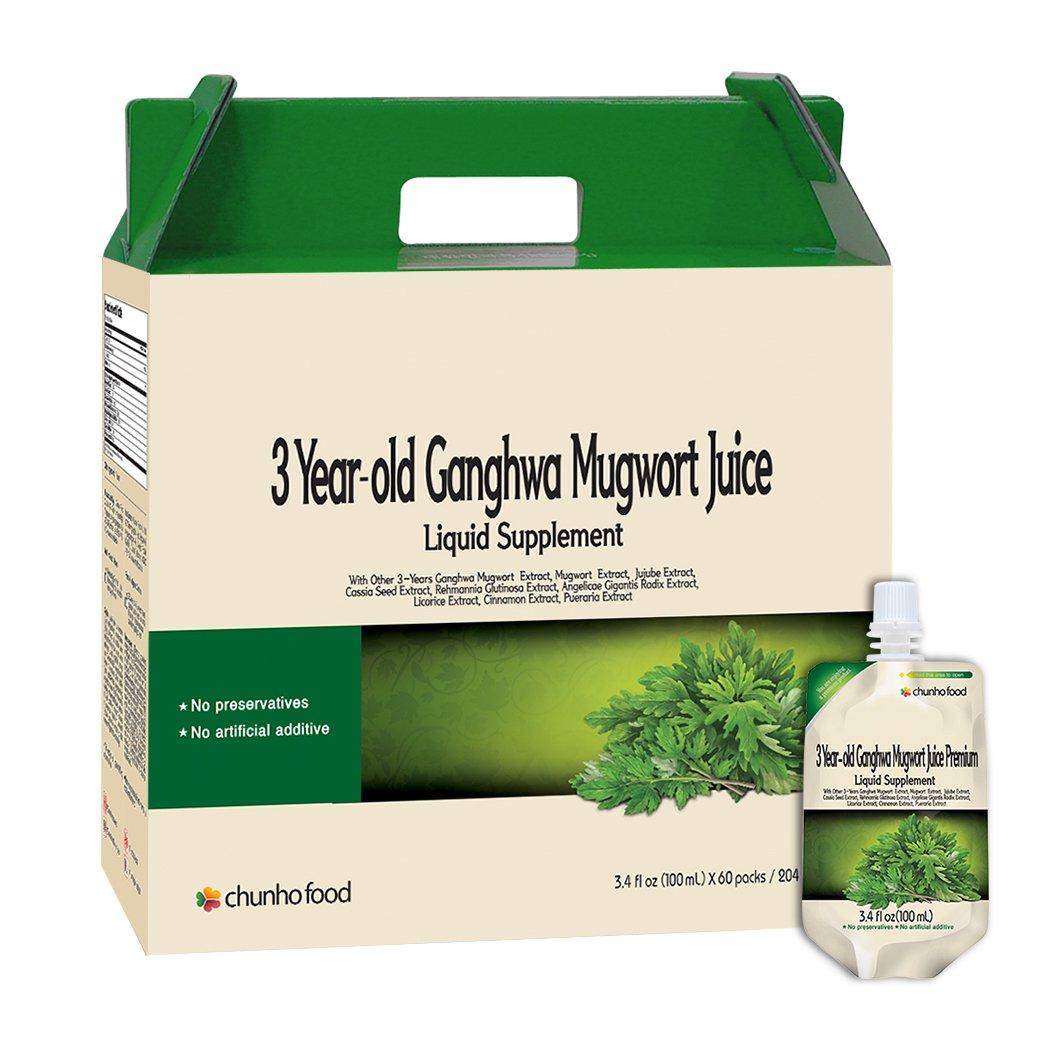 3 Year-old Ganghwa Mugwort Juice Green Color