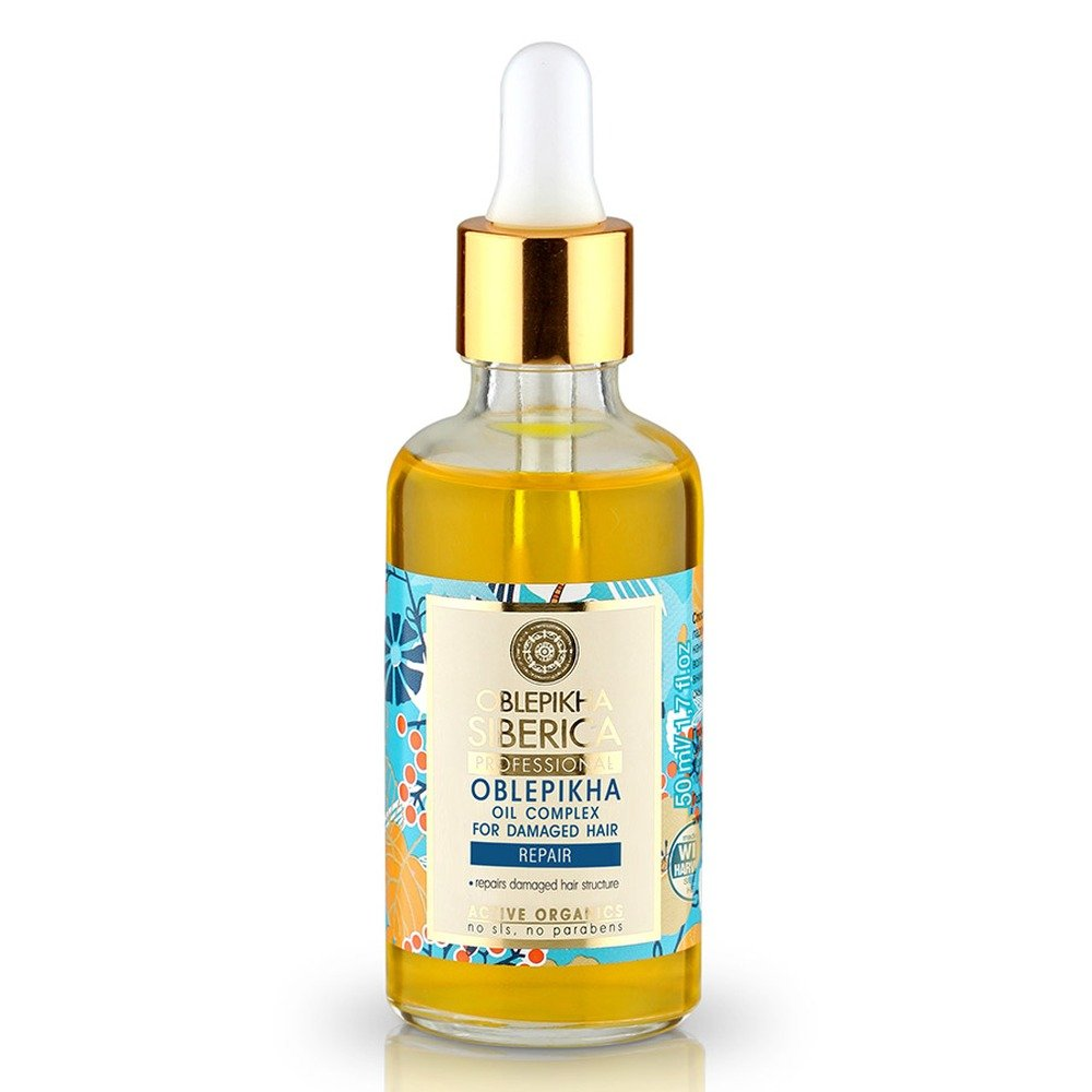 Active Organic Sea Buckthorn Oil for Damaged Hair 50 Ml (Natura Siberica)