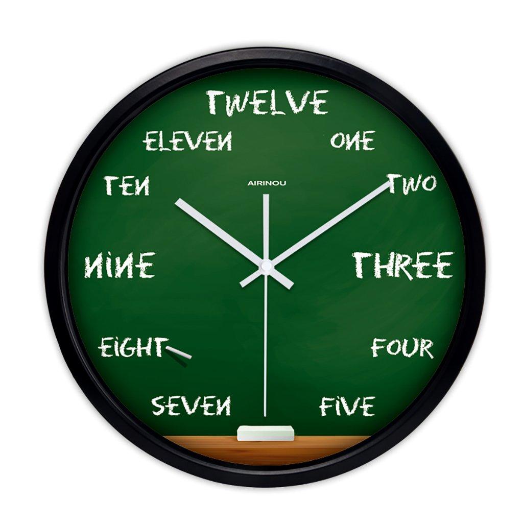 ベッドルームラウンドパーソナリティシンプルな静かなウォールクロックリビングルームクリエイティブ現代の時計クォーツ時計 (色 : 2, サイズ さいず : 12in) B07FVRKGR2 12in|2 2 12in