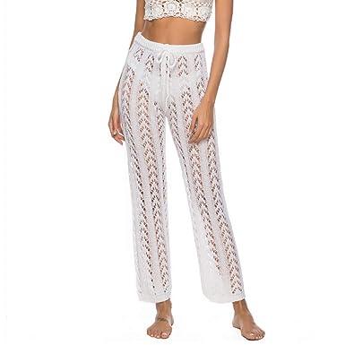 Greetuny 1pcs Pantalones Boho Verano Mujer 2019 Sexy Hueco ...