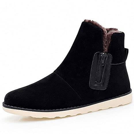 861afc4a6a4f2 Amazon.com: Tebapi Mens Backpacking Boots Leather Suede Fur Ankle ...