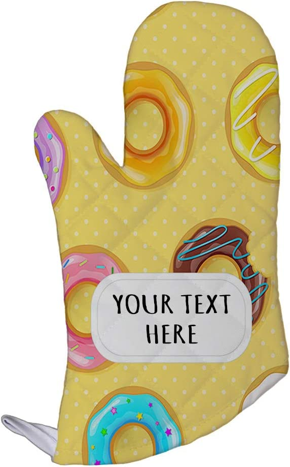 Polyester Oven Mitt Custom Donuts Seemless Pattern Adults Kitchen Mittens