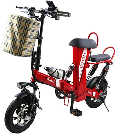 Suyanouz Mini Bicicleta EléCtrica De 12 Pulgadas De AlimentacióN ...