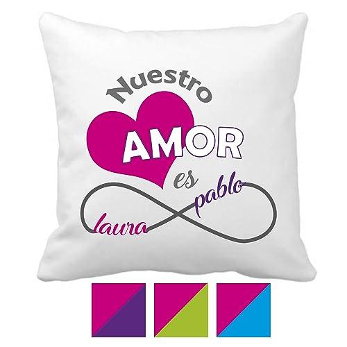Regalo San Valentín/Cojin Personalizado/Enamorados/Pareja ...