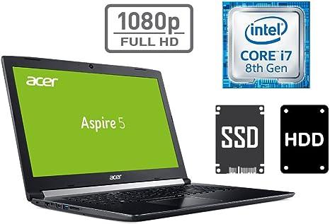 Ordenador portatil Acer A517. Procesador Core i7, memoria RAM DDR4 ...